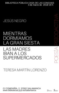 Casa de las Conchas Poesía Psicoactiva Salamanca Marzo 2018