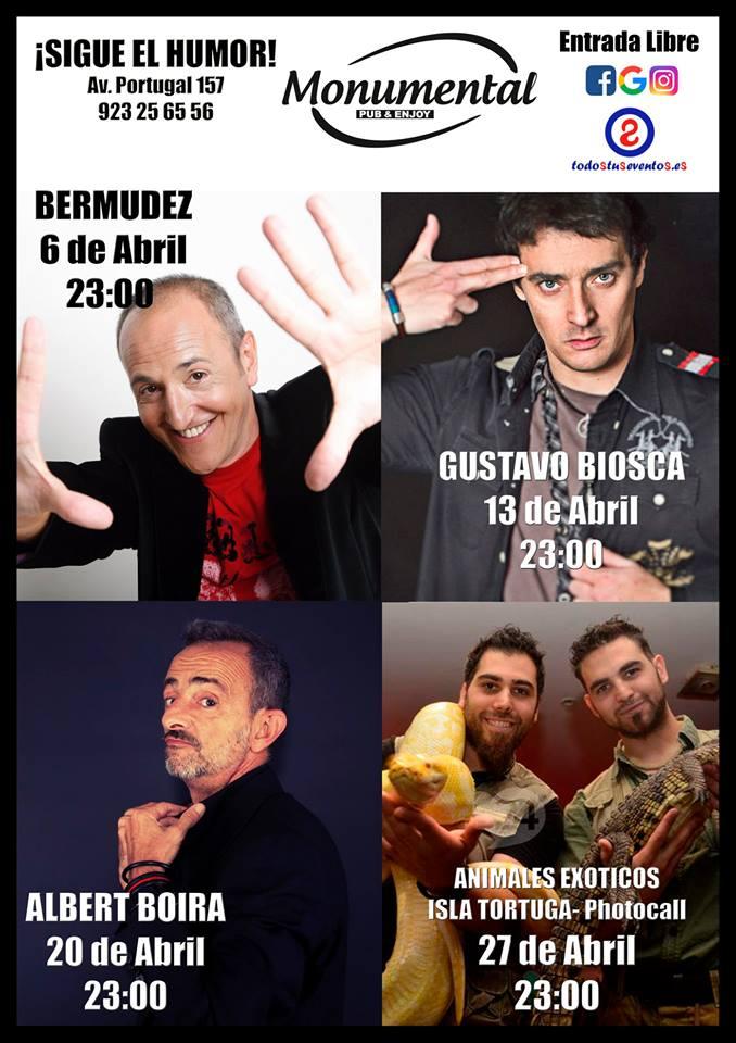 Pub Monumental Humor y magia Abril 2018