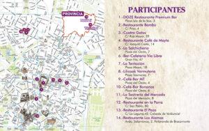 Mapa II Concurso de Torrijas Salamanca Marzo abril 2018