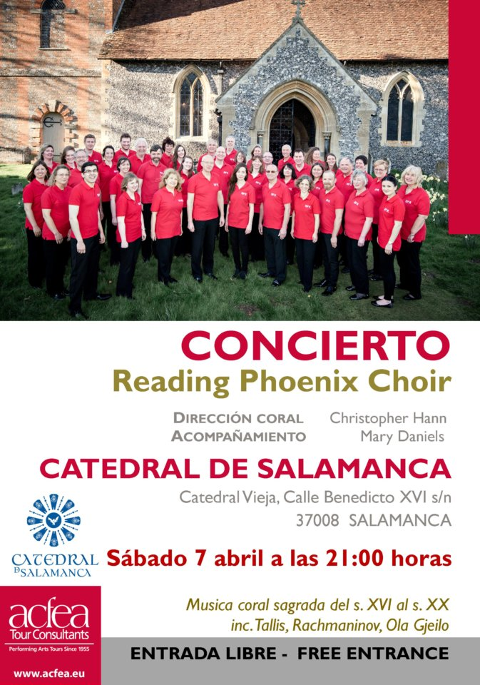 Catedral Vieja Reading Phoneix Choir Salamanca Abril 2018