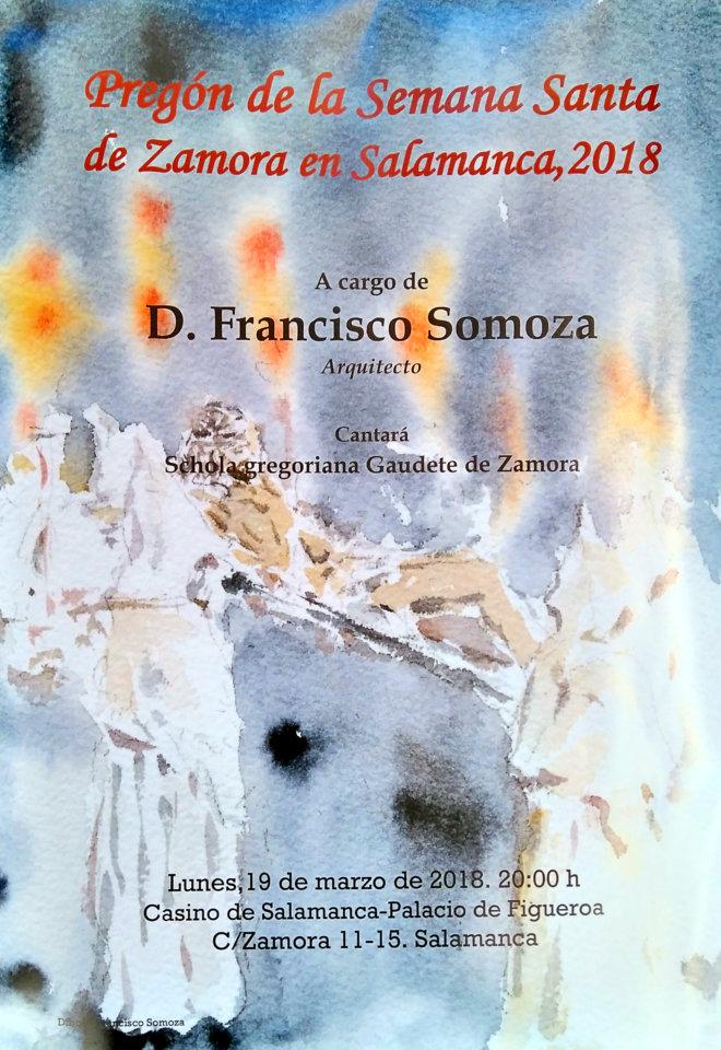 Casino de Salamanca Pregón de la Semana Santa de Zamora en Salamanca Marzo 2018