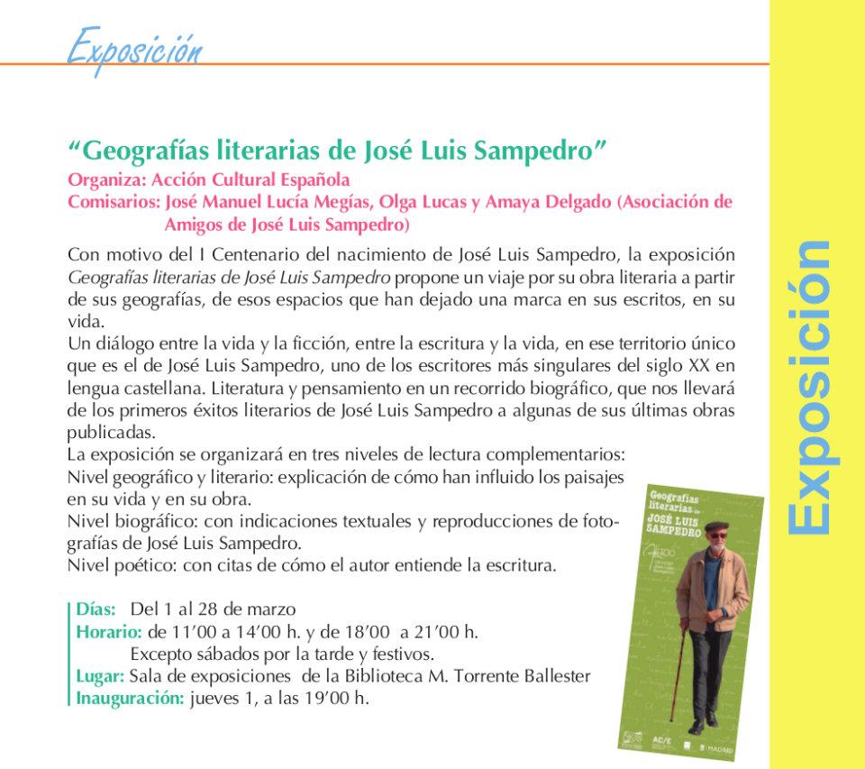 Torrente Ballester Geografías literarias de José Luis Sampedro Salamanca Marzo 2018