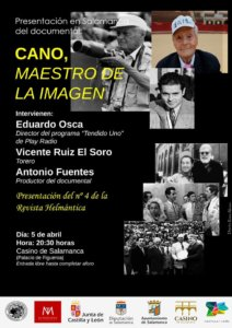 Casino de Salamanca CANO, maestro de la imagen Abril 2018