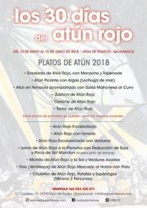 Restaurante Rivas Los 30 días del atún rojo Vega de Tirados Mayo junio 2018
