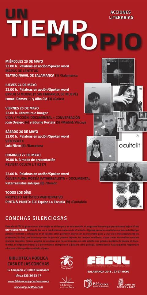 FÀCYL 2018 Un tiempo propio Salamanca Mayo