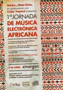 Espacio Almargen I Jornada de Música Electrónica Africana Salamanca Junio 2018
