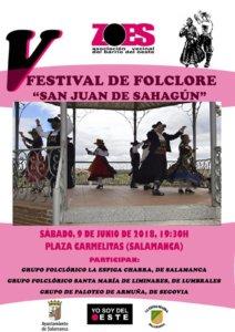Fiestas de San Juan V Festival de Folclore Salamanca Junio 2018
