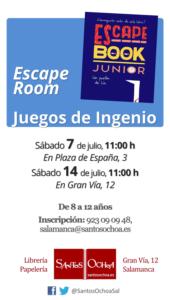 Santos Ochoa Salamanca Escape Room Juegos de Ingenio Julio 2018