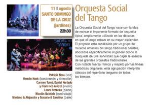Sala de Exposiciones Santo Domingo de la Cruz Orquesta Social del Tango Plazas y Patios Salamanca Agosto 2018