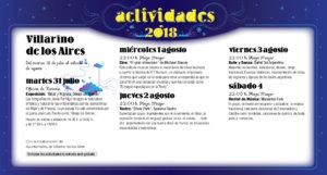 Villarino de los Aires Noches de Cultura Julio agosto 2018