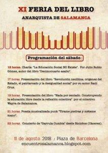Plaza de Barcelona XI Encuentro del Libro Anarquista de Salamanca Agosto 2018