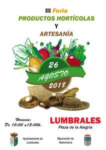 Lumbrales III Feria de Productos Hortícolas y Artesanía Agosto 2018