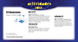 El Manzano Noches de Cultura Agosto 2018