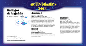 Gallegos de Argañán Noches de Cultura Agosto 2018