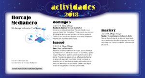 Horcajo Medianero Noches de Cultura Agosto 2018