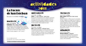 La Fuente de San Esteban Noches de Cultura Agosto 2018