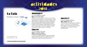 La Tala Noches de Cultura Agosto 2018