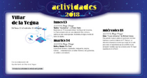 Villar de la Yegua Noches de Cultura Agosto 2018