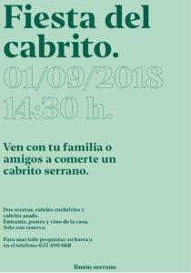 Limón Serrano Fiesta del Cabrito Salamanca Septiembre 2018