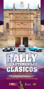 Ferias y Fiestas 2018 Rally de Automóviles Clásicos Escuelas Mayores MHAS Salamanca Septiembre