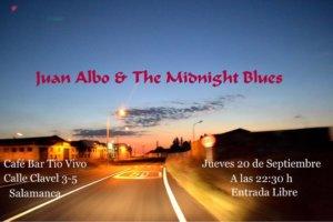 Tío Vivo Juan Albo & The Midnight Blues Salamanca Septiembre 2018