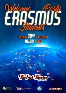 The Irish Theatre Welcome Party Erasmus Students Salamanca Septiembre 2018