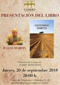 Casino de Salamanca Cultivando sonetos Septiembre 2018
