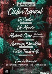 Espacio Almargen II Aniversario Ciclón Tropical Collective Salamanca Octubre 2018