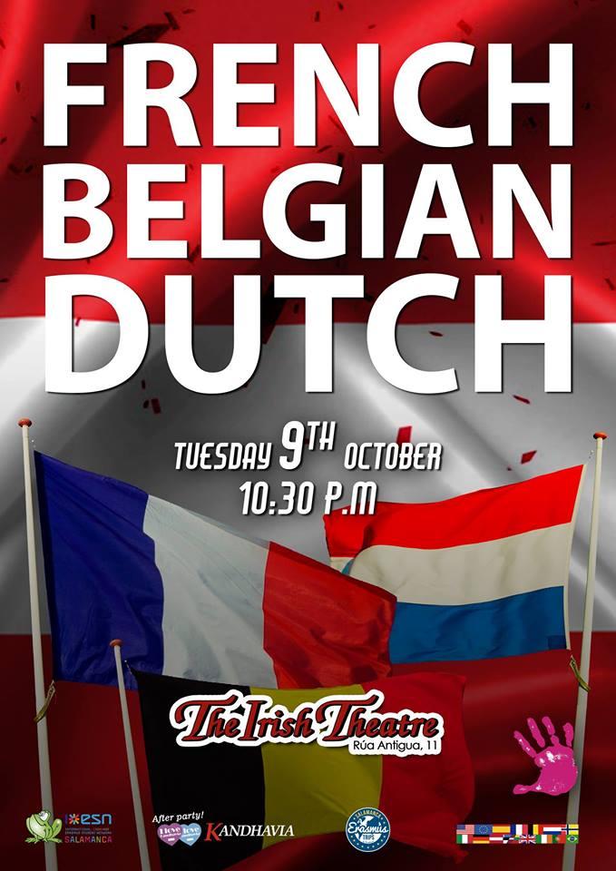 The Irish Theatre French, Belgian & Dutch Party Salamanca Octubre 2018