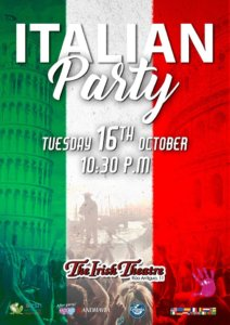 The Irish Theatre Italian Party Salamanca Octubre 2018