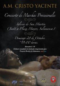 Iglesia de San Martín Agrupación Musical Cristo Yacente Salamanca Octubre 2018