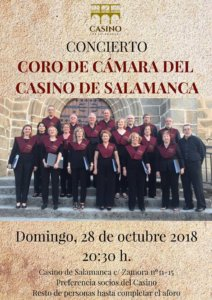 Casino de Salamanca Coro de Cámara Octubre 2018