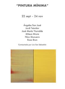 Galería Adora Calvo Pintura mínima Salamanca Septiembre octubre noviembre 2018