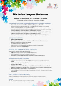 Edificio Juan del Enzina Día de las Lenguas Modernas 2018 Salamanca Octubre