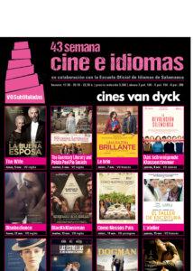Cines Van Dyck 43 Semana Cine e idiomas 5 al 8 de noviembre Salamanca