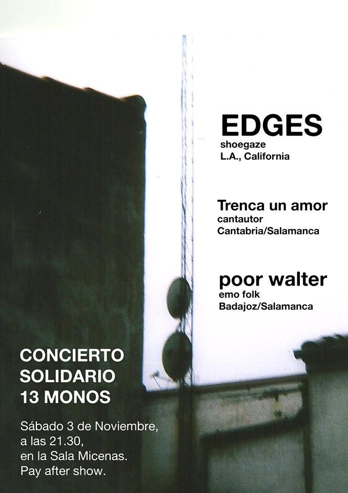 Sala Micenas Concierto Solidario Trece Monos Salamanca Noviembre 2018