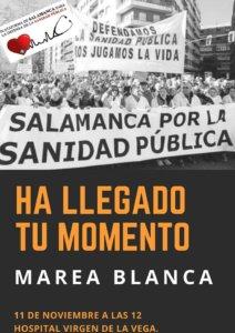 Salamanca Marea Blanca Noviembre 2018