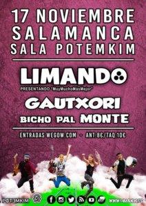 Potemkim Limando + Gautxori + Bicho Pal Monte Salamanca Noviembre 2018