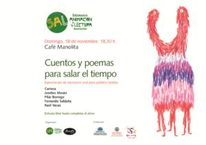 Manolita Café Bar Cuentos y poemas para salar el tiempo Salamanca Noviembre 2018