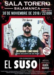 Sala Torero El Suso Salamanca Noviembre 2018