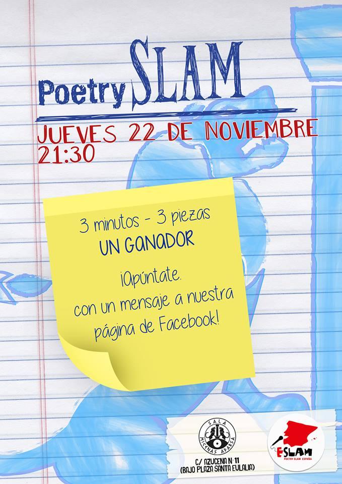Sala Micenas II Poetry Slam Salamanca Noviembre 2018