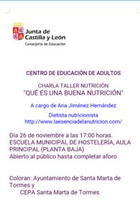 Escuela Municipal de Hostelería Ana Jiménez Namasté Santa Marta de Tormes Noviembre 2018