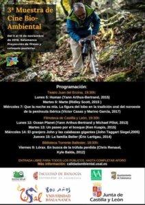 III Muestra de Cine Bio-Ambiental Salamanca Noviembre 2018