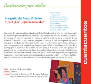 Torrente Ballester Margarita del Mazo Salamanca Noviembre 2018