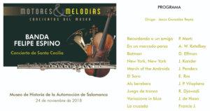 Museo de Historia de la Automoción de Salamanca MHAS Banda Felipe Espino Noviembre 2018
