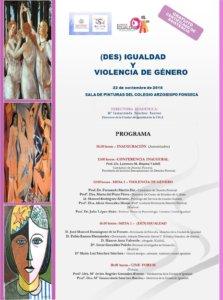 Colegio Arzobispo Fonseca (Des) Igualdad y Violencia de Género Salamanca Noviembre 2018
