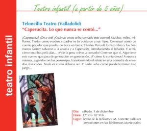 Torrente Ballester Teloncillo Teatro Salamanca Noviembre 2018