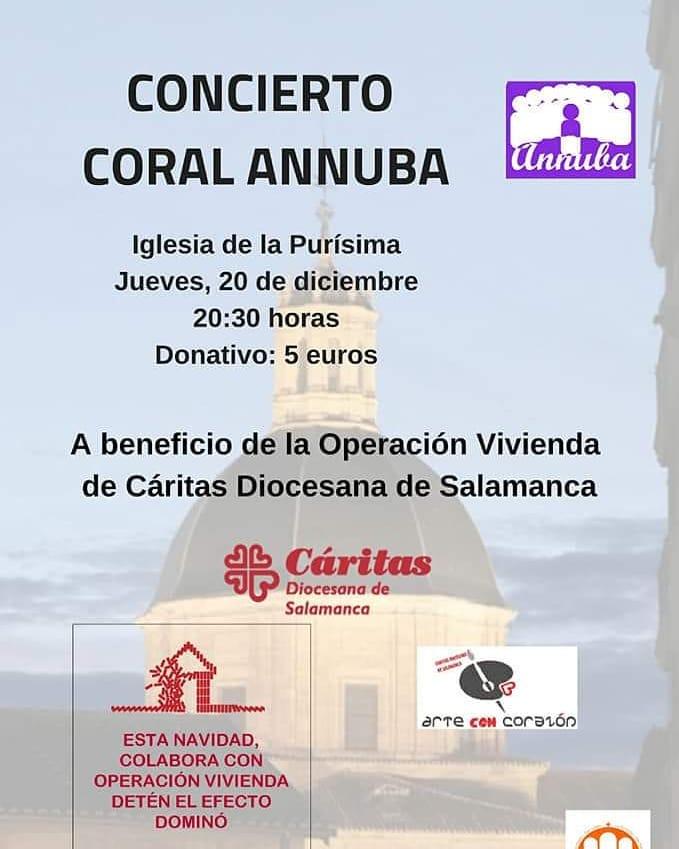 Iglesia de la Purísima Coral Annuba Salamanca Diciembre 2018