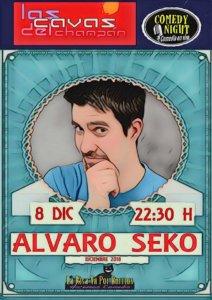 Las Cavas del Champán Álvaro Seko Comedy Night Salamanca Diciembre 2018
