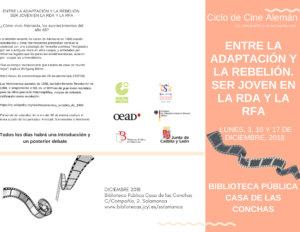 Casa de las Conchas Ciclo de Cine Alemán Salamanca Diciembre 2018